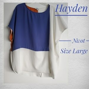 Hayden color block oversized blouse top size large
